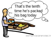dementia patient repetitive behavior