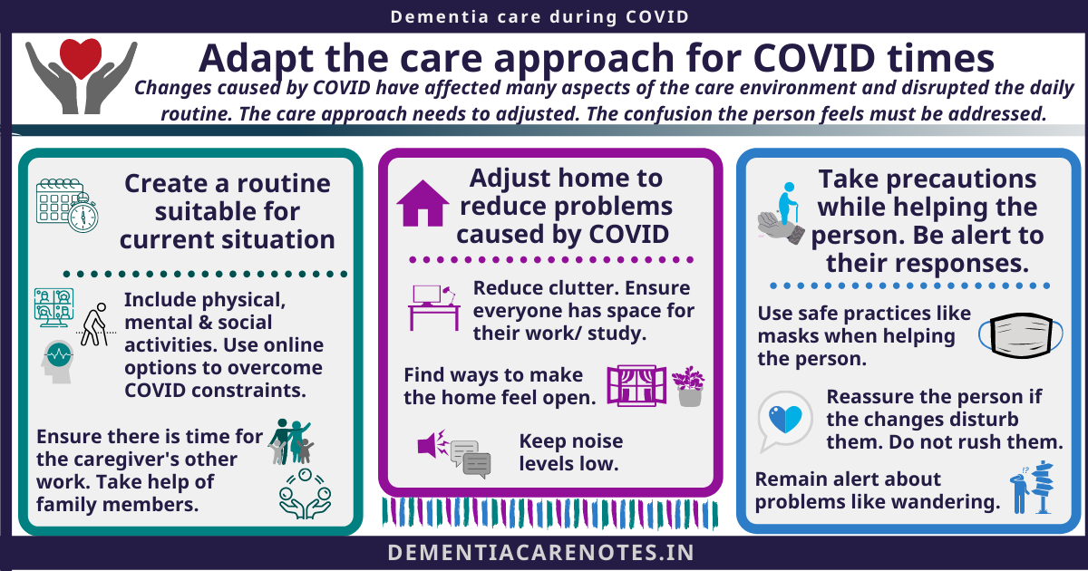 demenia care during COVID tips to adapt care approach