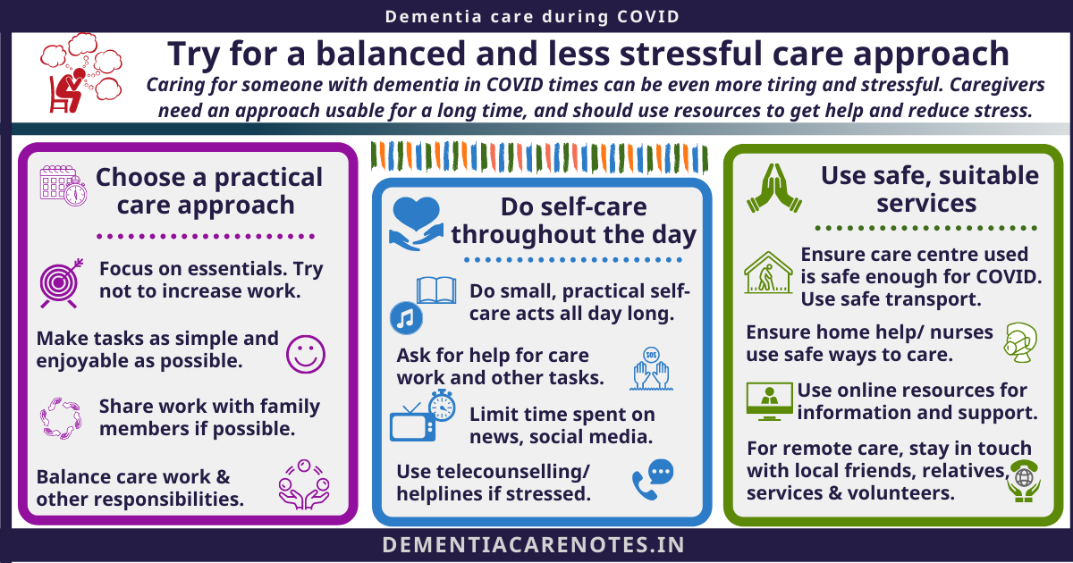 dementia care during COVID tips for balanced and less stressful approach